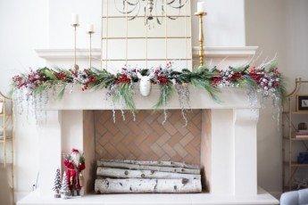 Decora tu casa por Navidad en blanco y rojo