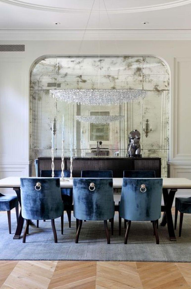 Decorar el sal n con grandes espejos get the look - Decorar paredes salon ...