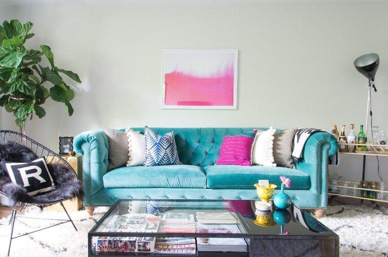 Un apartamento en Brooklyn lleno de color