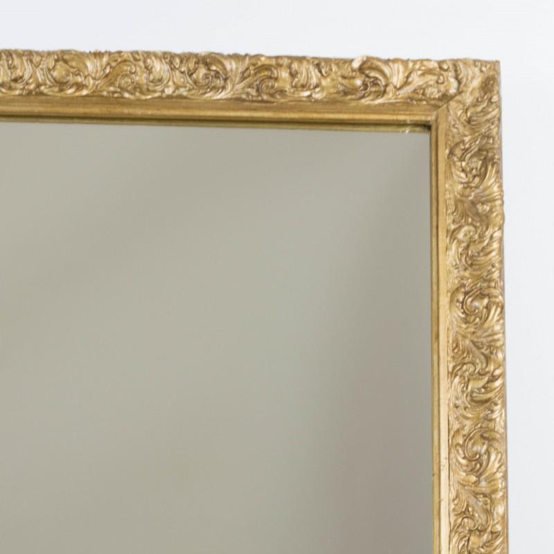 Espejo dorado a partir de antiguo marco espejos for Espejos dorados baratos