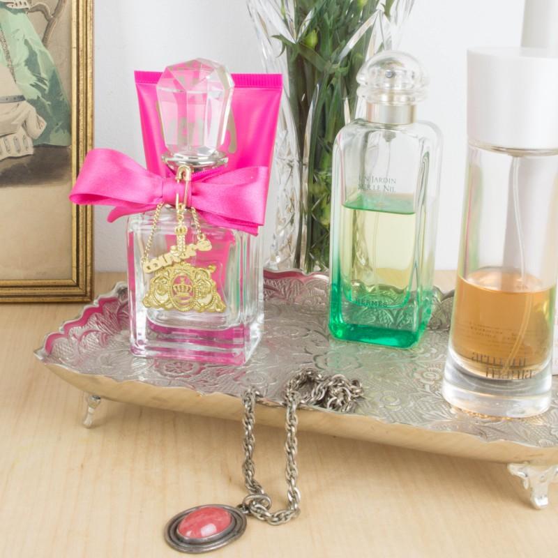 Conjunto de tocador plateado otros objetos y decoraci n for Objetos de decoracion online