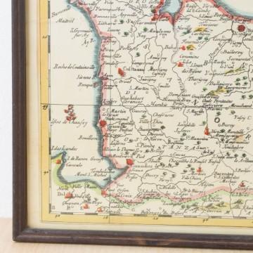 Antiguo mapa de Normandía