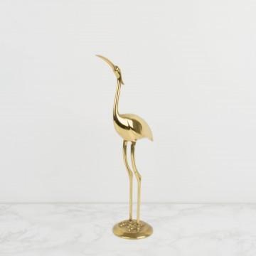 Figura, ibis de bronce