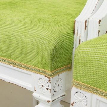 Pareja de butacas estilo Luís XVI con tapizado Tropical Chic