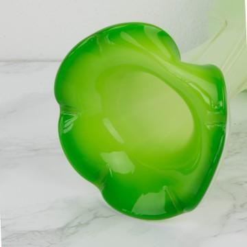 Pequeño jarrón de cristal de Murano verde
