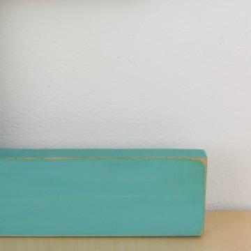 Letra E en color aguamarina