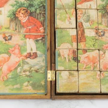 Antiguo rompecabezas de madera