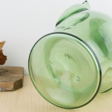 Botijo de vidrio soplado verde s. XIX
