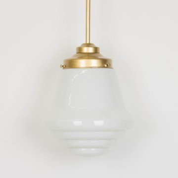 Lámpara opalina blanca