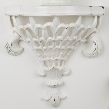 Soportes de pared blancos de hierro