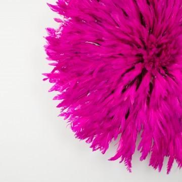 Juju hat o sombrero Bamileke, rosa fúcsia grande
