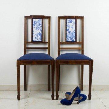Pareja de sillas de caoba de 1900-1920