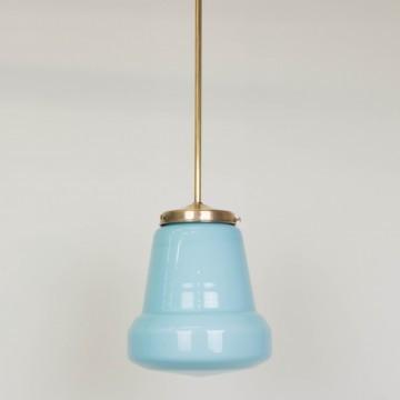 Lámpara opalina azul