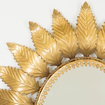 Espejo sol ovalado dorado