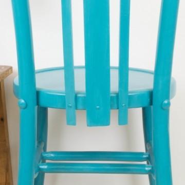 Silla Ismael azul turquesa
