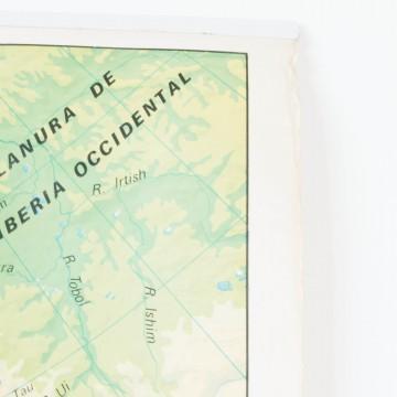 Mapa Europa escolar reversible años 70