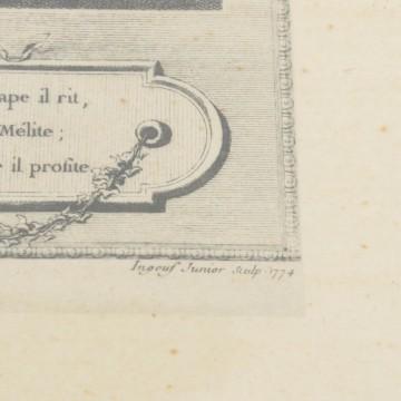 Litografía coloreada a mano, La Soireé d'Hyver