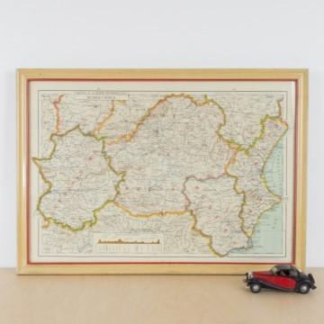 Antiguo mapa del centro de España