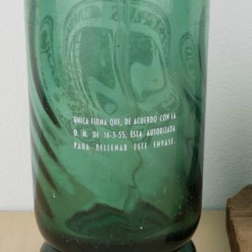 Sifón de cristal verde Clotet