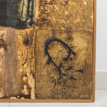 Las horas, pintura abstracta, 2002