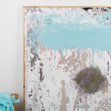 Piel nueva, pintura abstracta original de Cèlia Izquierdo