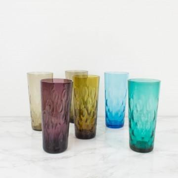 Juego de 6 vasos altos de colores
