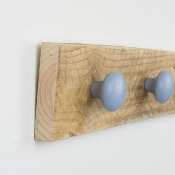 Colgador madera recuperada azul