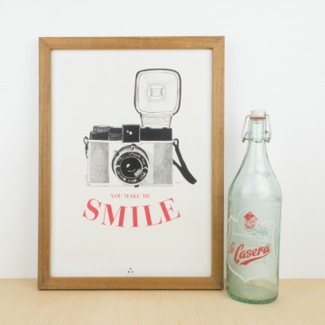 Lámina You make me Smile, by Antic&Chic