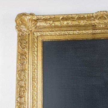 Pizarra a partir de antiguo marco dorado