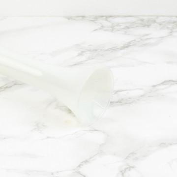 Jarrón opalino blanco nacarado italiano
