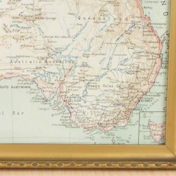 Pequeño mapa de Australia