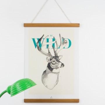 Lámina Be Wild para colgar