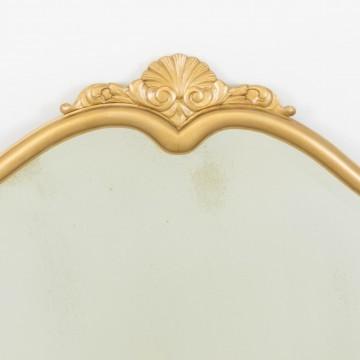 Espejo isabelino dorado