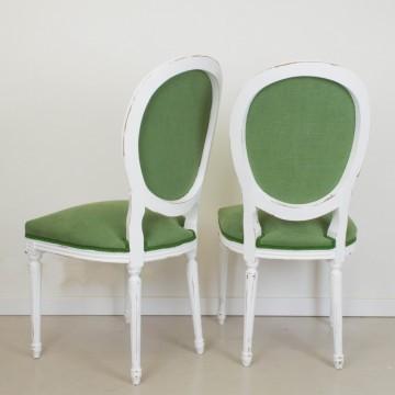 Pareja de sillas francesas estilo Luís XVI