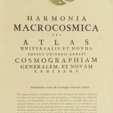 Harmonia Macrocosmica Hemisferio Norte antigua bóveda celeste