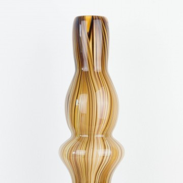 Jarrón italiano de cristal opalino marrón