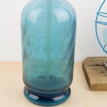 Sifón de cristal azul Pérez y Compañía de Argentina