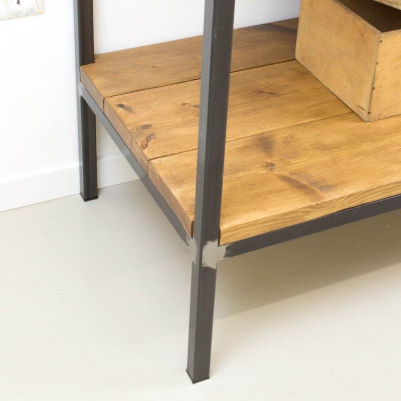 mueble auxiliar de cocina de hierro y madera auxiliar