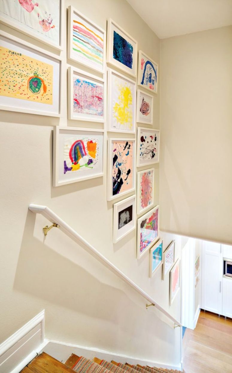 Como Decorar La Pared De Una Escalera Get The Look - Decoracion-de-escaleras