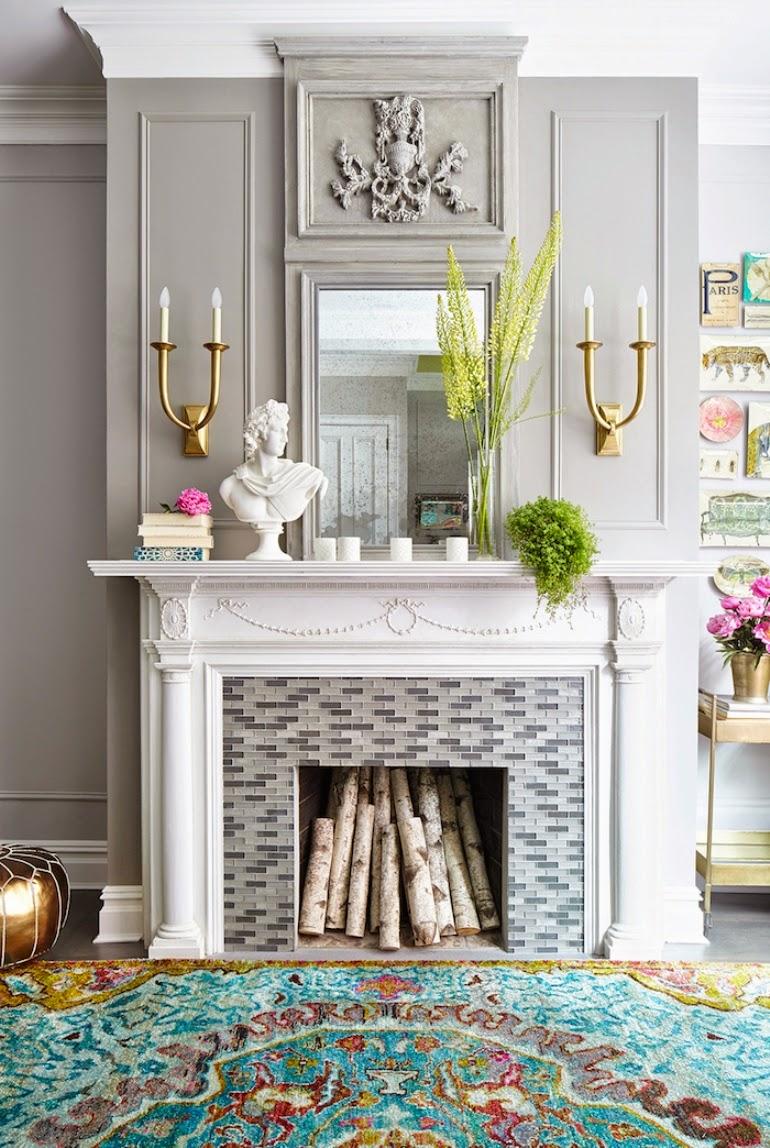 Cmo decorar tu chimenea para esta primavera Get the Look
