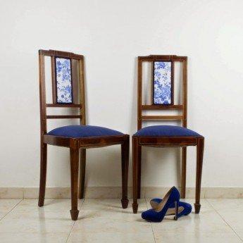 Cómo actualizar una pareja de sillas inglesas de caoba