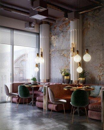 Un restaurante panadería que mezcla el estilo industrial con el Chic