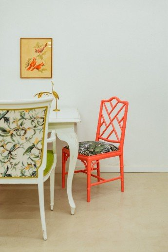 Cómo pintar un mueble paso a paso: sillas estilo chinoiserie