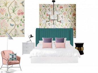 Cómo diseñar un dormitorio a partir de un papel pintado