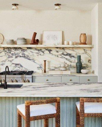 Nueva tendencia en cocinas: mármol súper veteado
