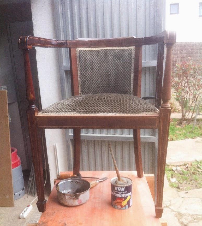 Cómo restaurar una butaca estilo Imperio de caoba   En el taller de ...
