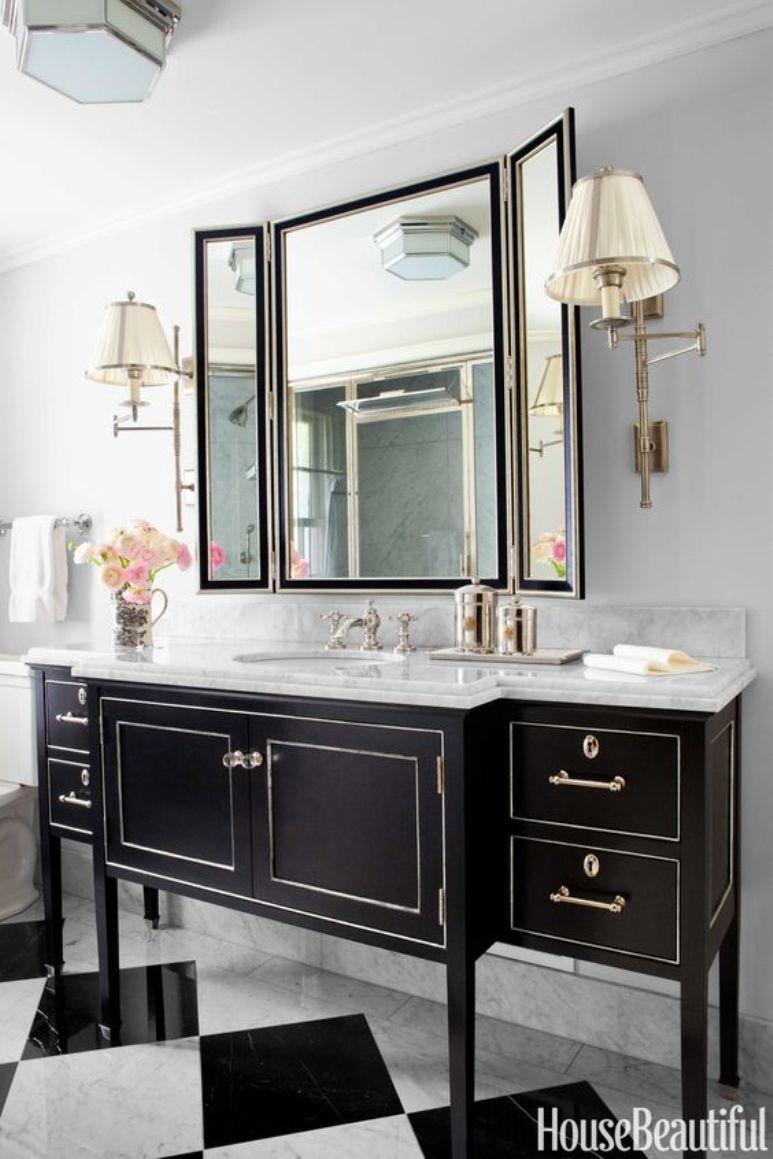 C mo reutilizar un mueble antiguo como lavabo get the look - Como lacar un mueble ...