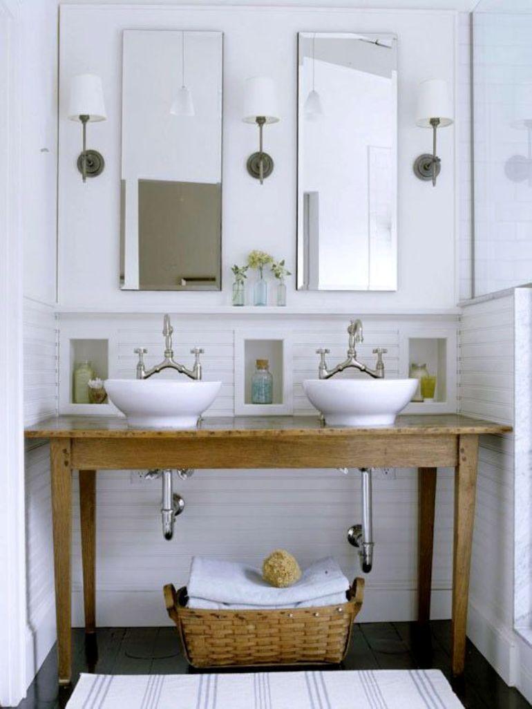 C mo reutilizar un mueble antiguo como lavabo get the look for Mueble antiguo para bano