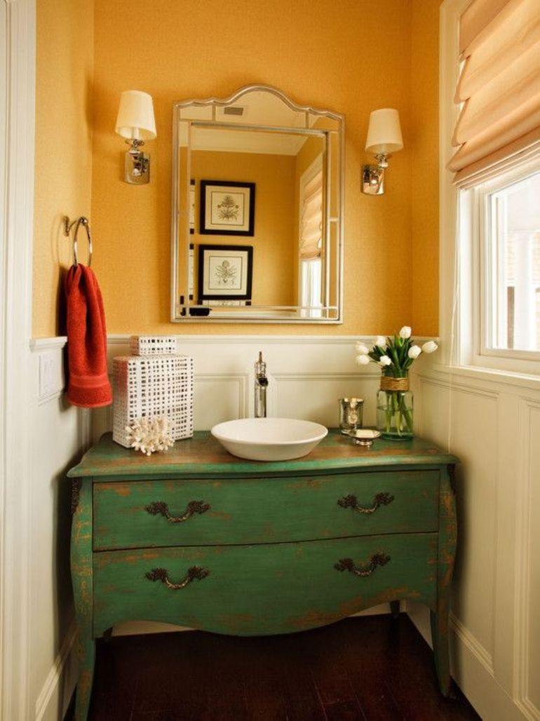 Cómo reutilizar un mueble antiguo como lavabo | Get the Look