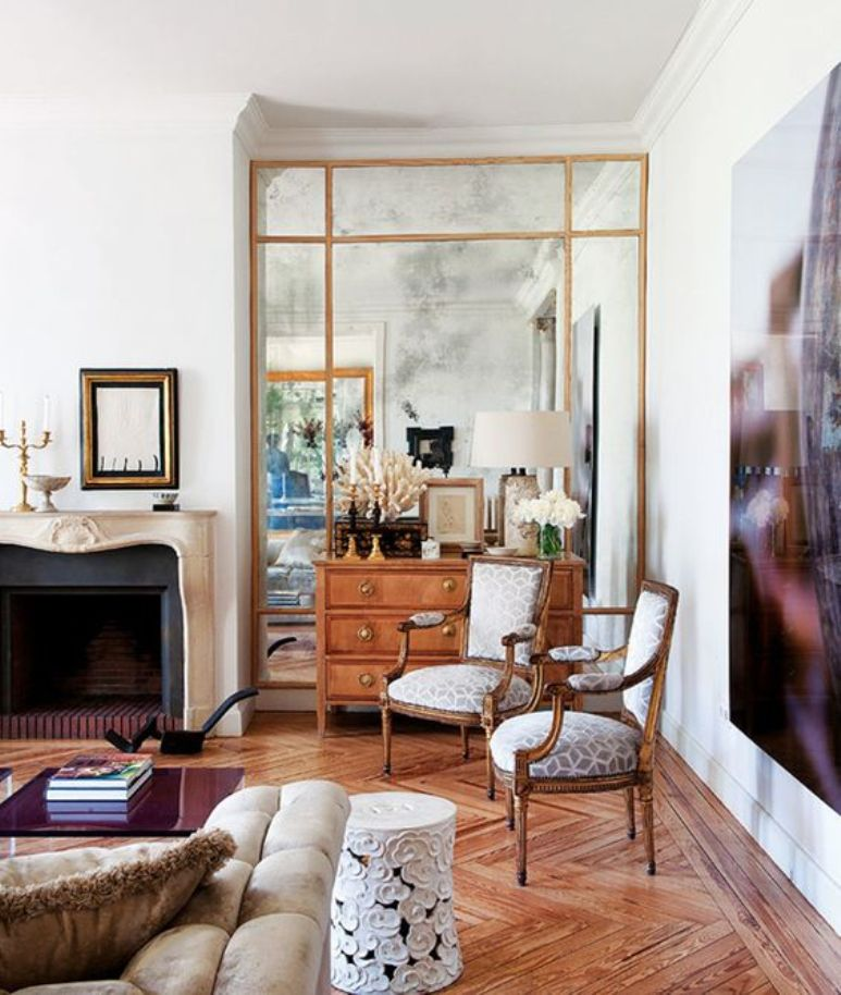Decorar el saln con grandes espejos Get the Look